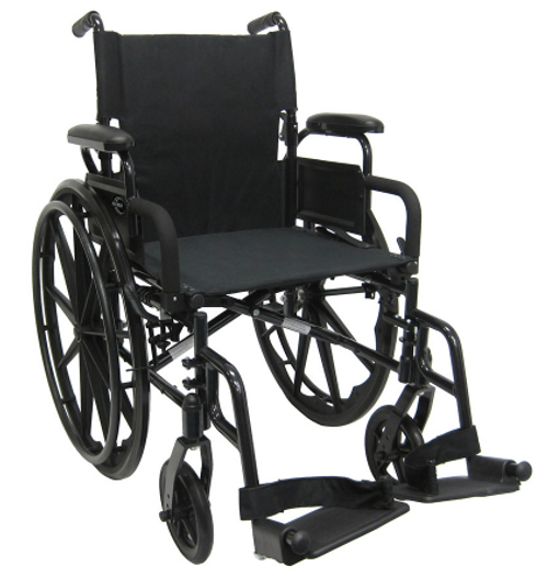 "18"" Black Aluminum Wheelchair (2388)"