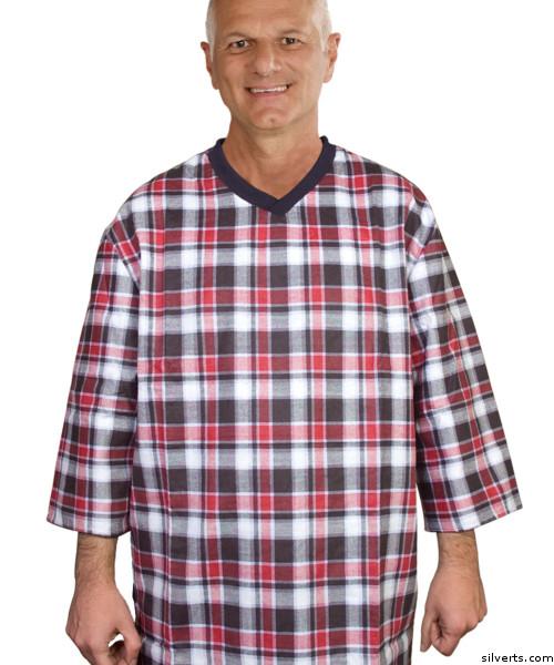 d98531bd5f Silvert s 501210403 Mens Adaptive Cotton Hospital Patient Nightgowns