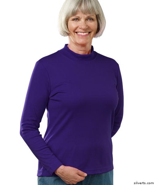 ec983fe6e2a1 Buy Online Silvert s 130601502 Women s Long Sleeve Mock Turtleneck ...