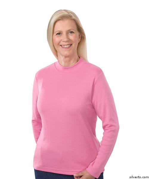 79882240cc13 Buy Online Silvert s 130600603 Women s Long Sleeve Mock Turtleneck ...