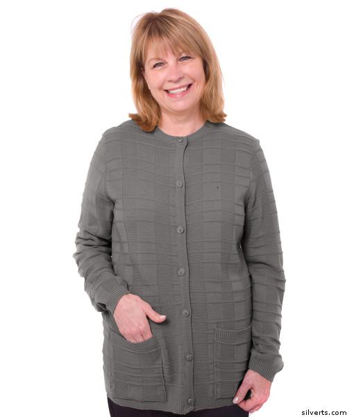 Buy Online Silvert s 132601902 Women s Cardigan Sweater With Pockets ... 3910e32db