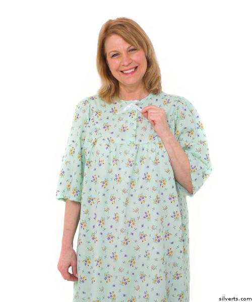 3ce938729181 Silvert s 161300902 Womens Regular Short Cotton Sleepwear Nightgown