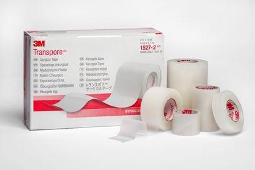 "3M Transpore Plastic Surgical 1"" Tape, 12 Rolls/Box (3M-1527-1)"