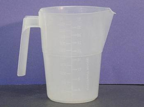 MEASURE GRADUATED PLASTIC 34oz CLEAR w/SPOUT & HANDLE AUTOCLAVEABLE (00032)