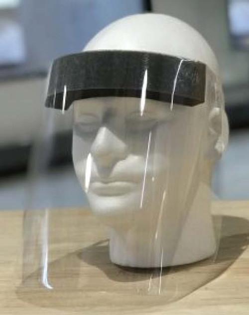 "Whitebird 129879 Disposable Face Shield 13"" W x 9"" L Foam headband, Elastic Strap, 160/CS, CS"
