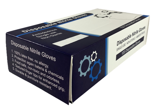 Disposable Nitrile Glove, Ambidextrous, Non-Sterile, Latex-Free, Textured Finger Tips, Large, BX/100, BX