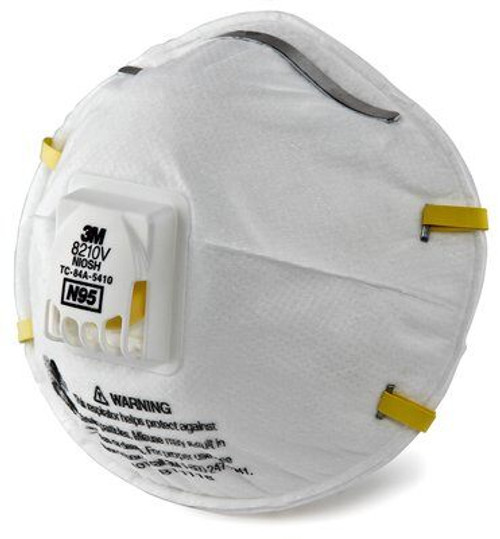 3M 8210V Particulate Respirator, N95, 10/Box, Box