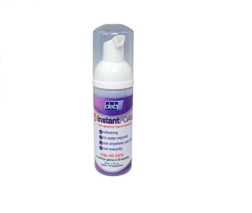 Hand Sanitizer Foam No Rinse 50ml alcohol free w/aloe vera (596-02100)(2100)