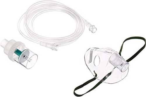 02-RT1707 Aerosol Kit w/Adult Mask side Draft Nebulizer & 7' Flex Tubing (02-RT1707)
