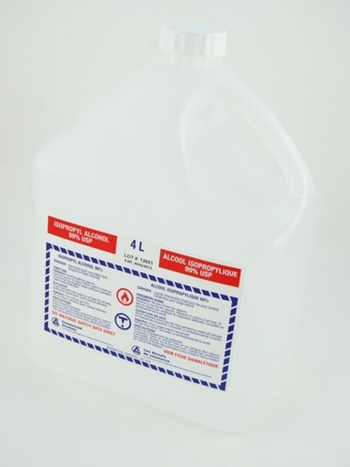 30099 Alcohol ISOPROPYL 99% USP 4L P52