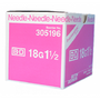 "BD 305196 PRECISIONGLIDE Needle STERILE CONVENTIONAL Regular Wall 18G x 33mm (1.5"") 100/bx"