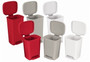 RECEPTACLE WASTE STEP ON 32qt PLASTIC WHITE 120-25269