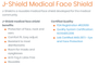 J-Pac Medical JP0001 J-Shield Face Shields, 25 Pack, Pack