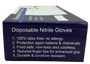 Disposable Nitrile Glove, Ambidextrous, Non-Sterile, Latex-Free, Textured Finger Tips, Medium, BX/100, BX