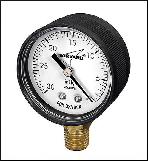 """Part # IPVG3024L Vacuum gauge, poly case, 1/4"""" tap, 30Hg"""", 2"""" face"""