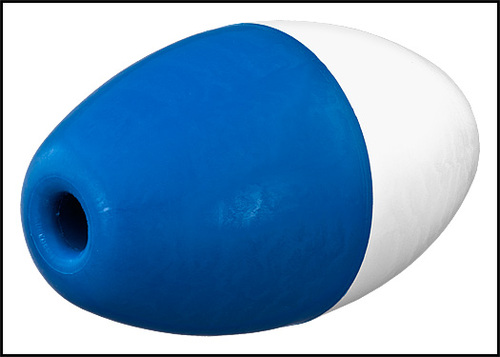 """Pentair 5"""" X 9"""" X 3/4"""" Rope Blue & White Poly Float (#R181086)"""