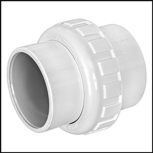"Praher Union 2"" X 2"" PVC Fitting SCH 40 Slip X Slip (#200-100)"