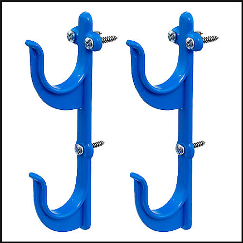 POLE HANGERS-ONE PAIR WITH SCREWS  (PLASTIC)
