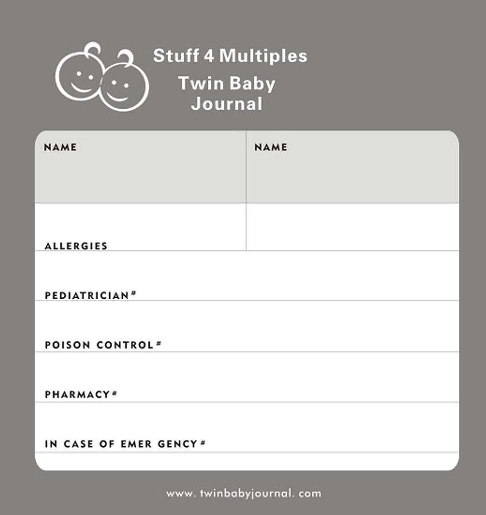 Twin Baby Journal