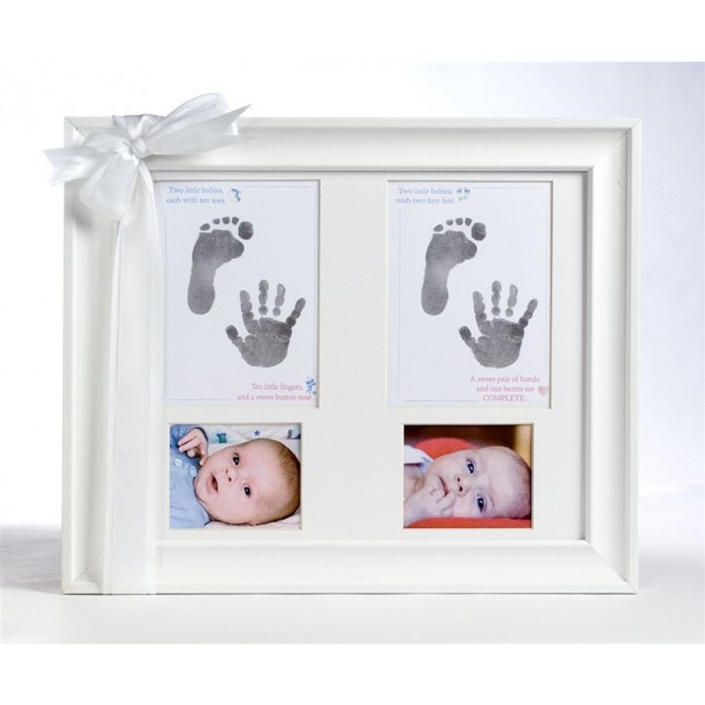 Twin Handprint And Footprint Picture Frame