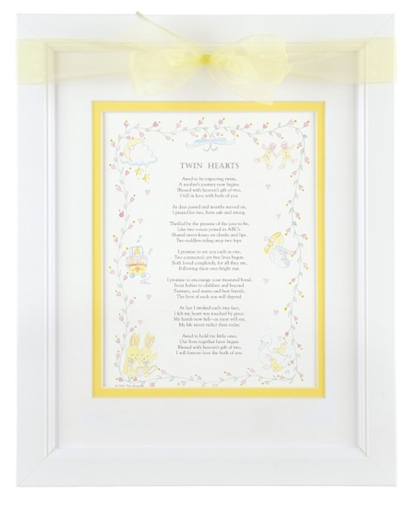Twin Hearts Poem Frame