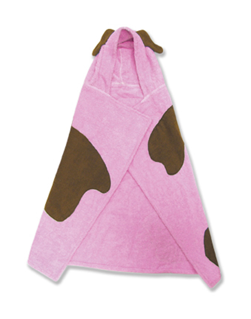 Puppy (pink) Character Hooded Towel