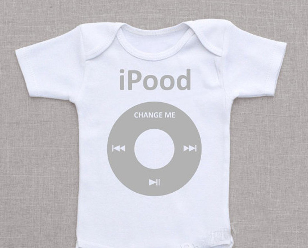 iPood Twin Baby Shirt Set