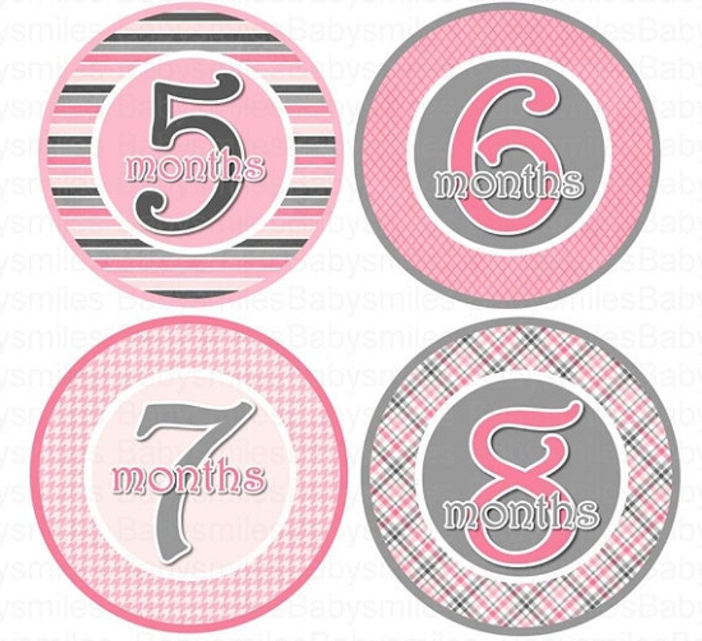 Baby Monthly Photo Stickers: Cutie Pink Collection