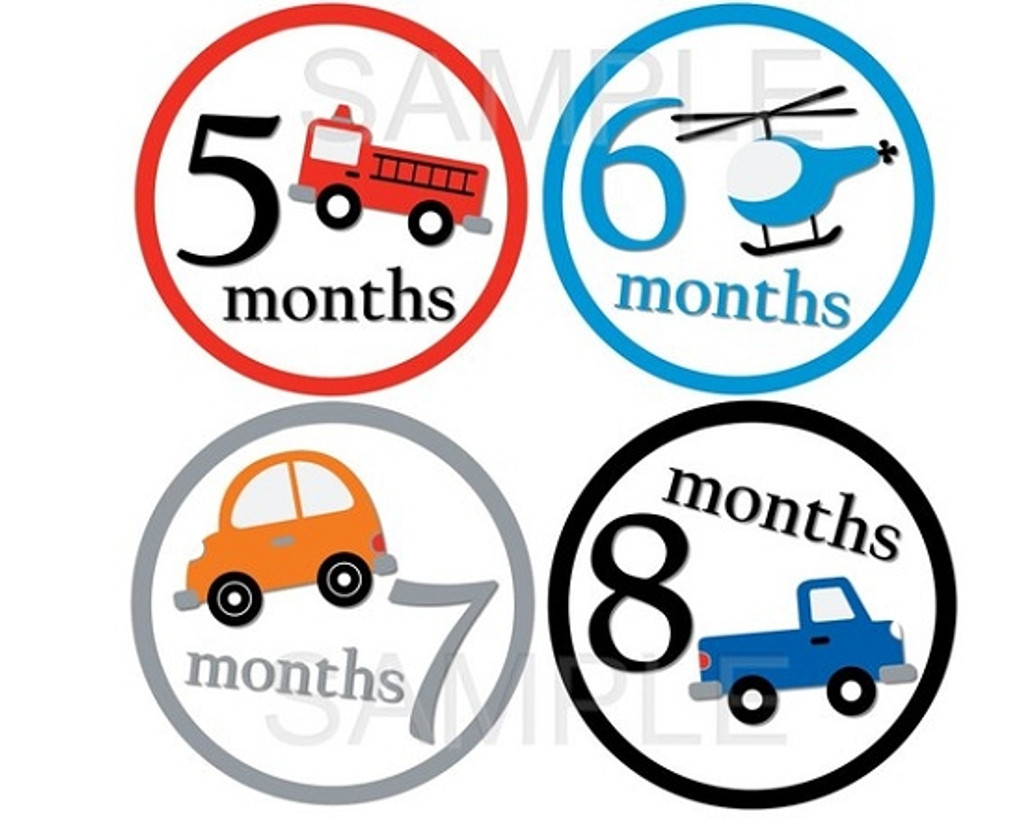 Baby Monthly Photo Stickers: Travel Collection