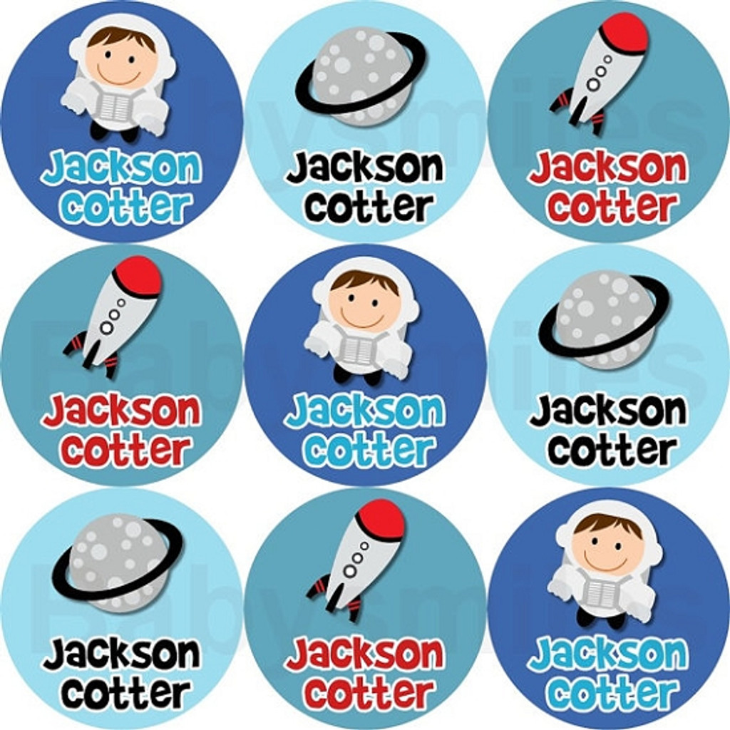 Waterproof Name Labels: Out of This World