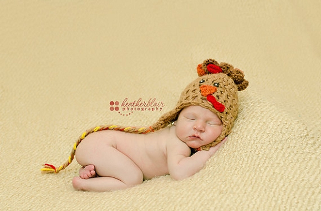 Twin Turkey Knitted Hats (Set of 2)