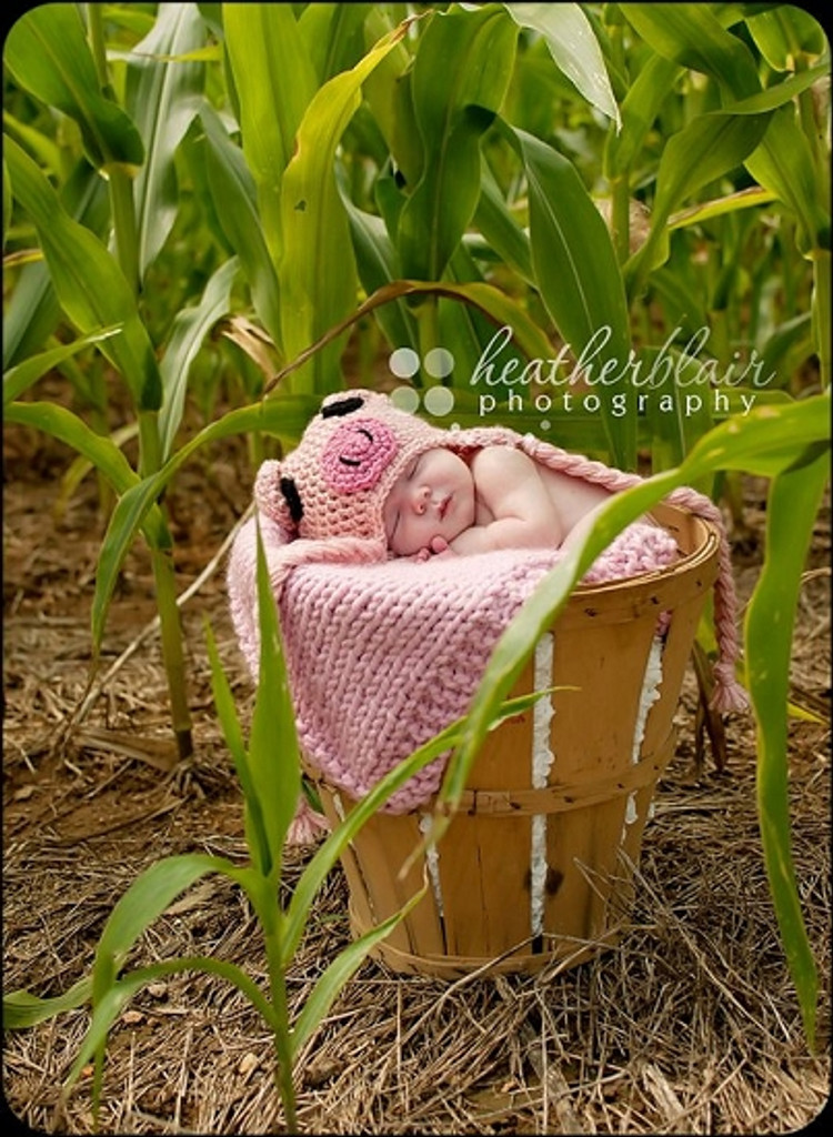 Knitted Pig Hats