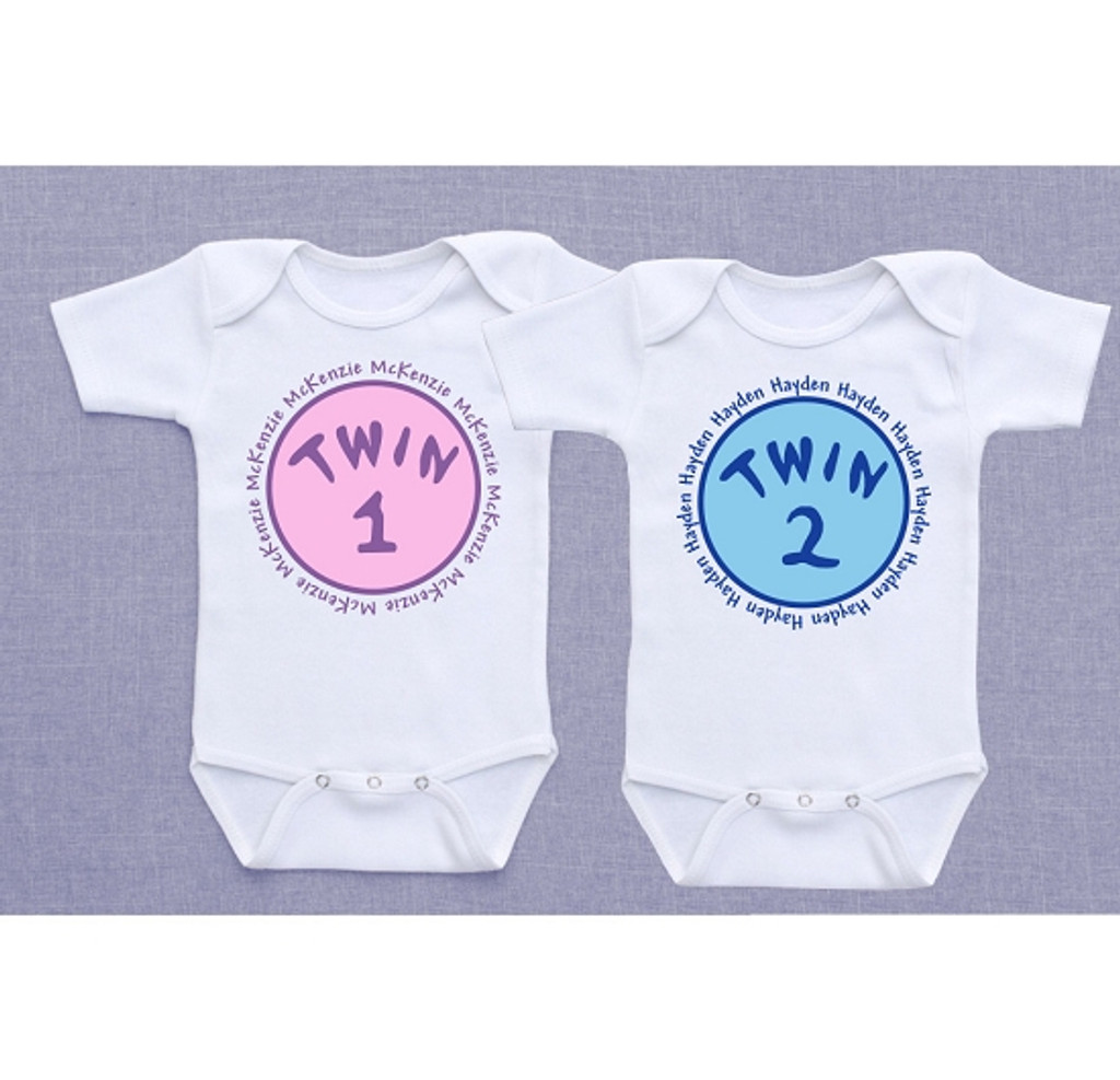 Personalized Twin 1 and Twin 2 Shirts
