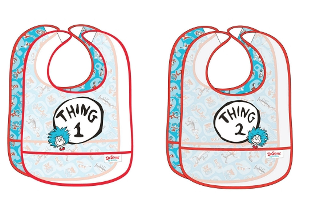 Thing 1 and Thing 2 Waterproof Bibs - Stuff 4 Multiples 01f0b9dab