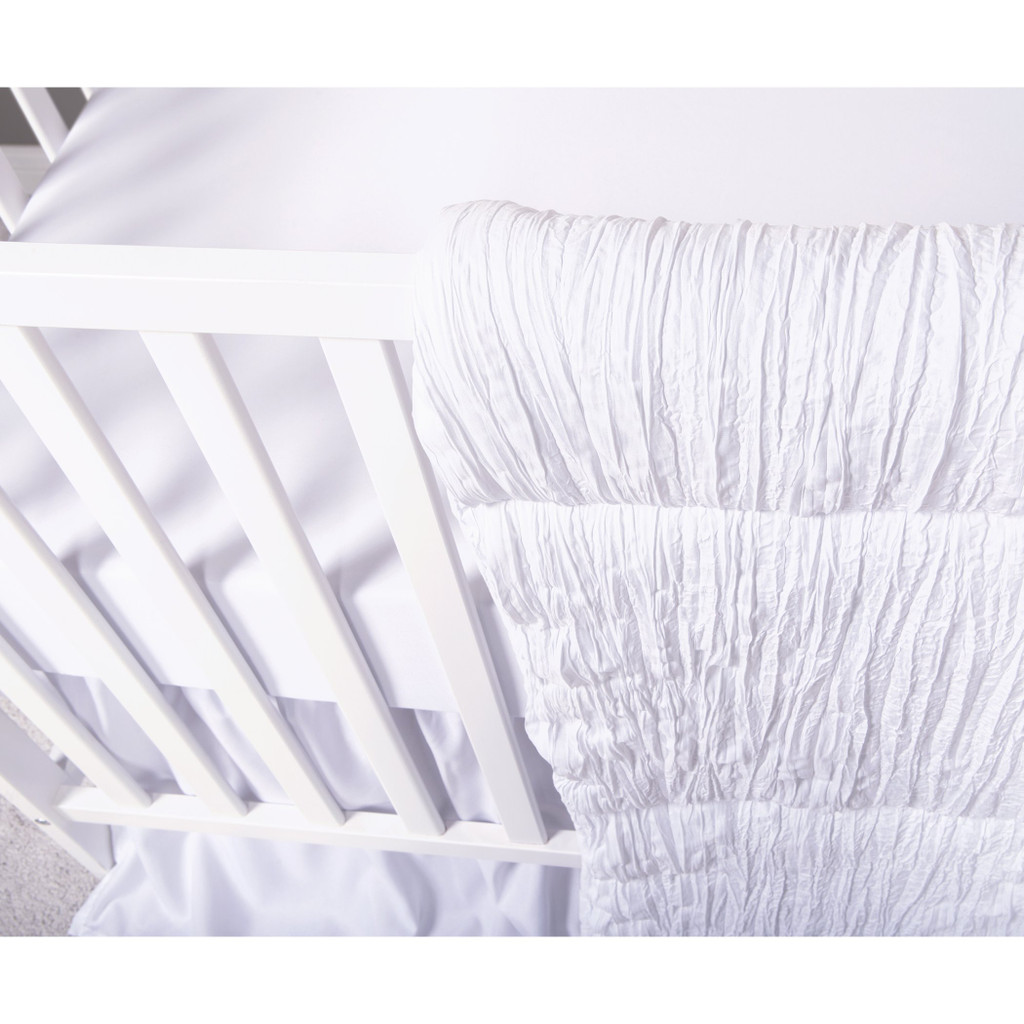 Simply  White 3 Piece Crib Bedding Set