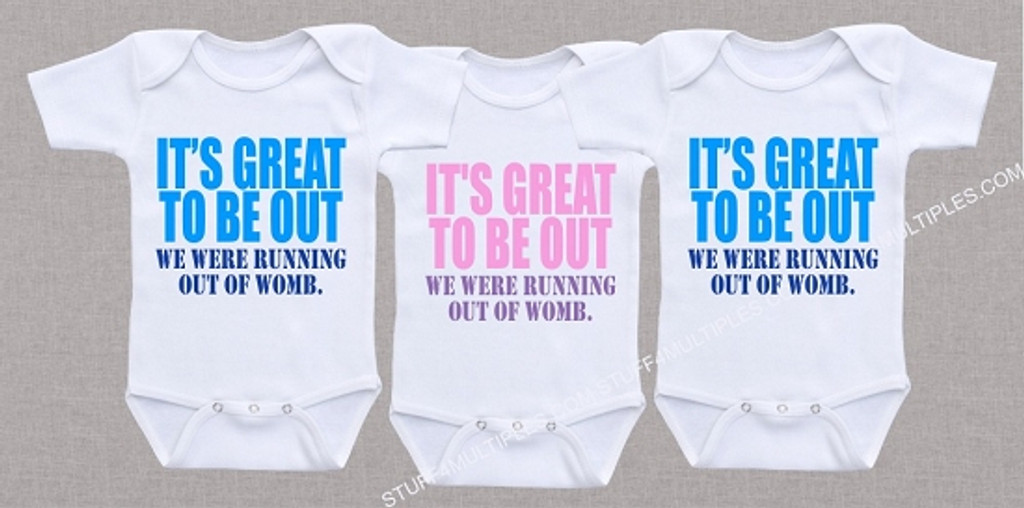 We were running out of womb triplet shirt set