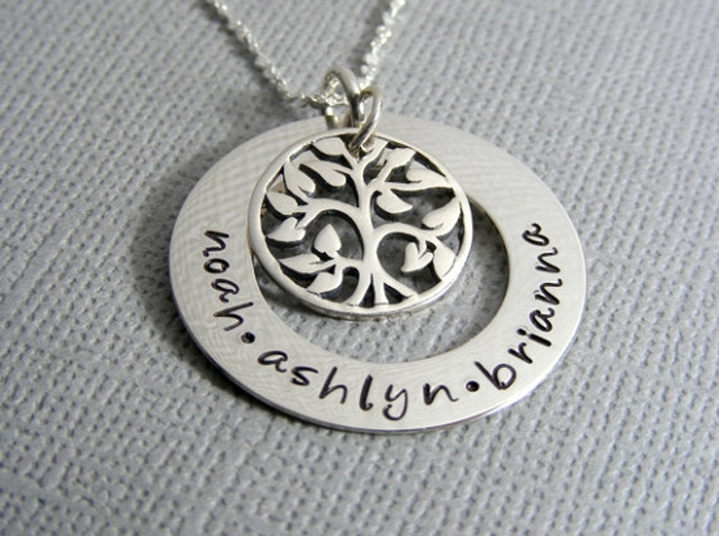 Mother's Personalized Family Tree Necklace