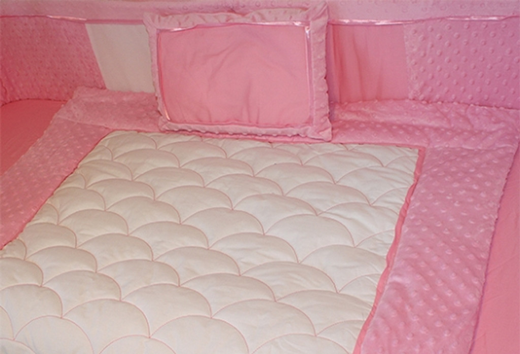 Minky Pink 9 Piece Baby Bedding Set