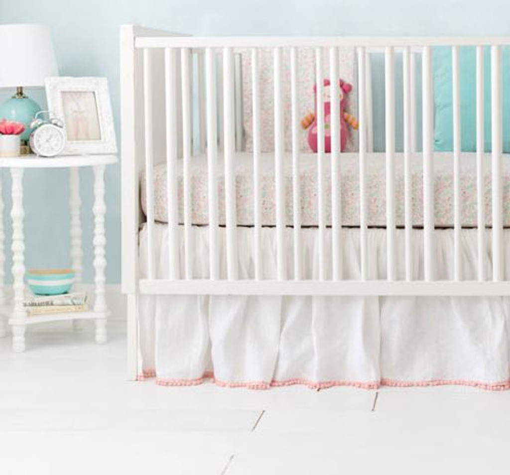 Mint and Pink Unicorn Crib Rail Cover Set | Magic Folk Collection