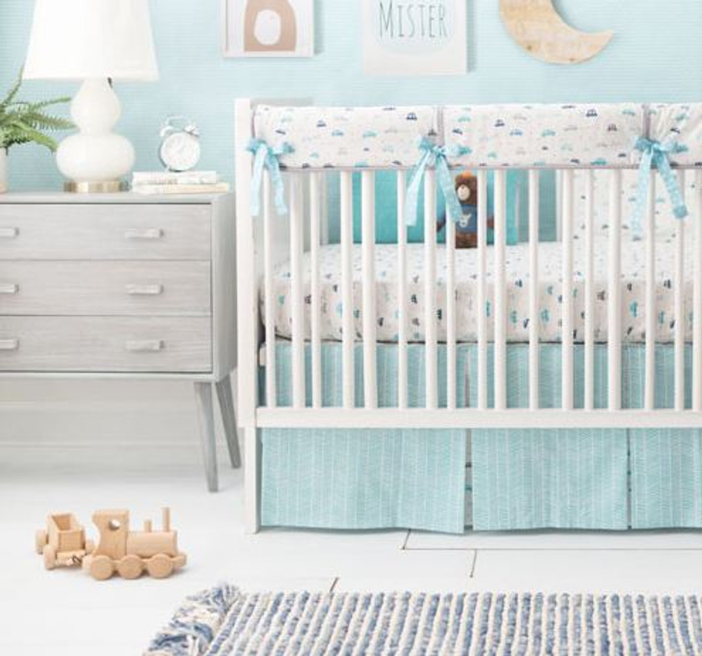 Transportation Baby Bedding | On My Way Vroom Collection