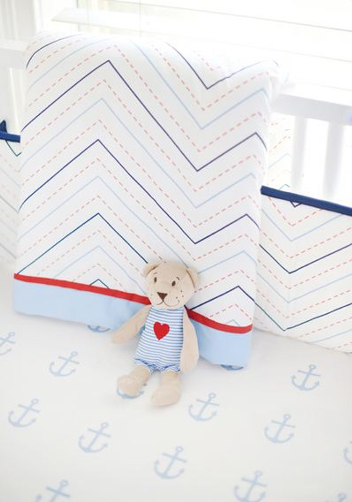 Nautical Baby Bedding | First Mate Crib Collection