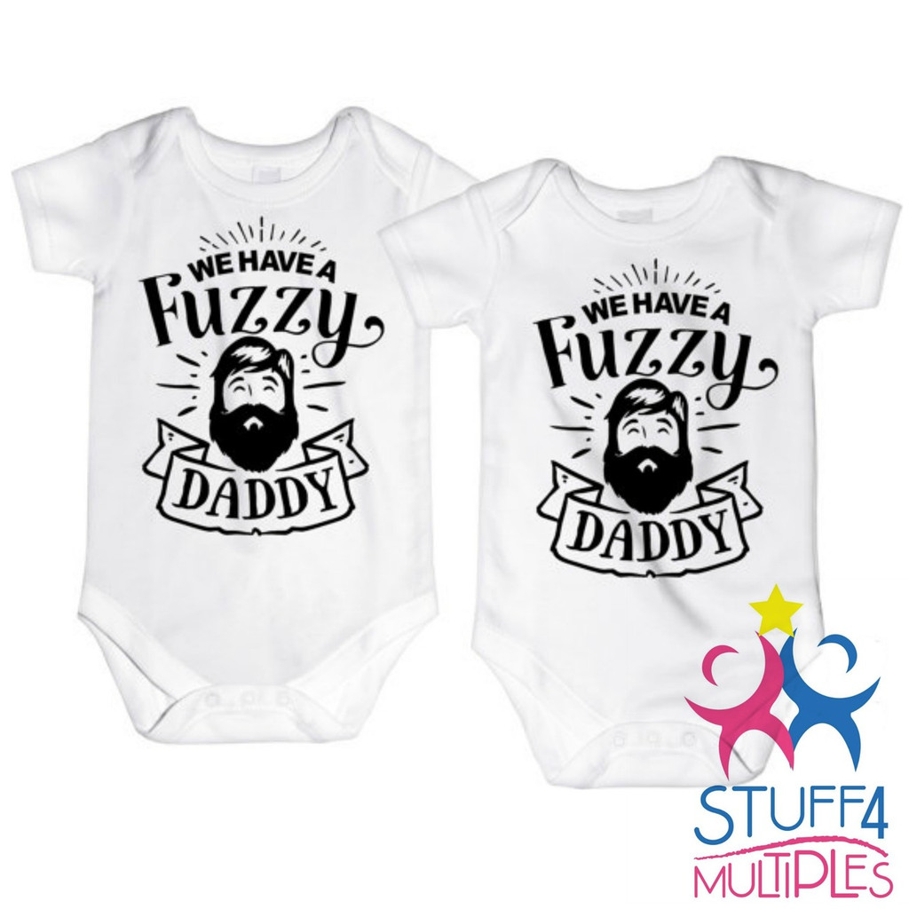 329ddc00d36f8 We Have A Fuzzy Daddy Twin Shirt Set