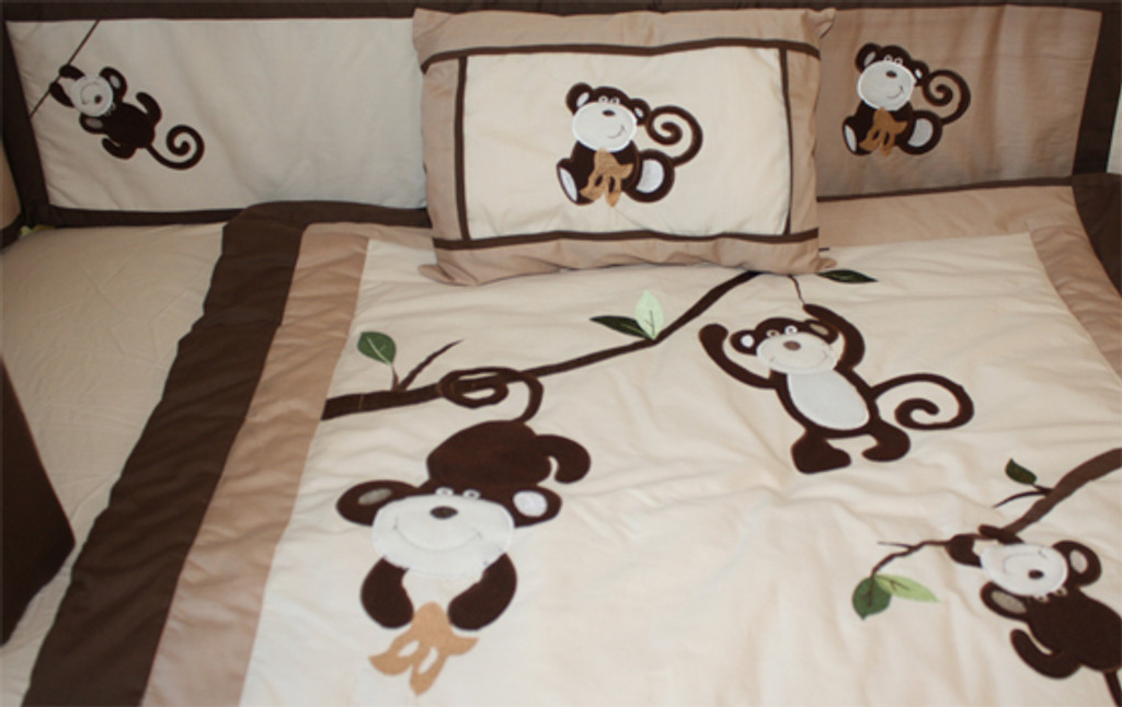 Pink and Brown Monkey 20 Piece Nursery Set