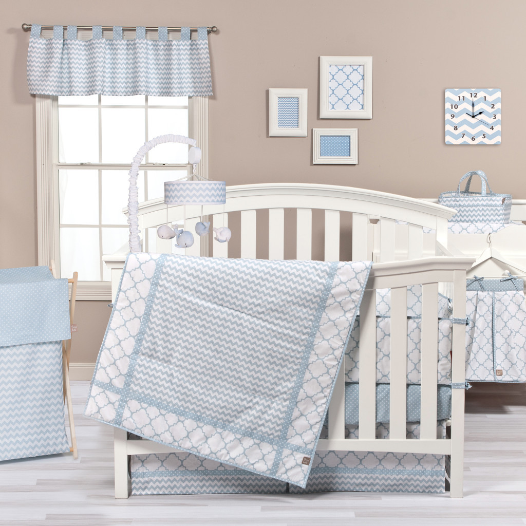 Pink and Blue Sky Matching Baby Bedding Set for Twins