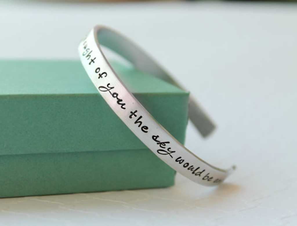 """""""If a star fell each time I thought of you the sky would be empty"""" Bracelet"""