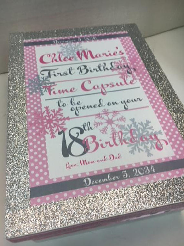 Silver and Pink Time Capsule