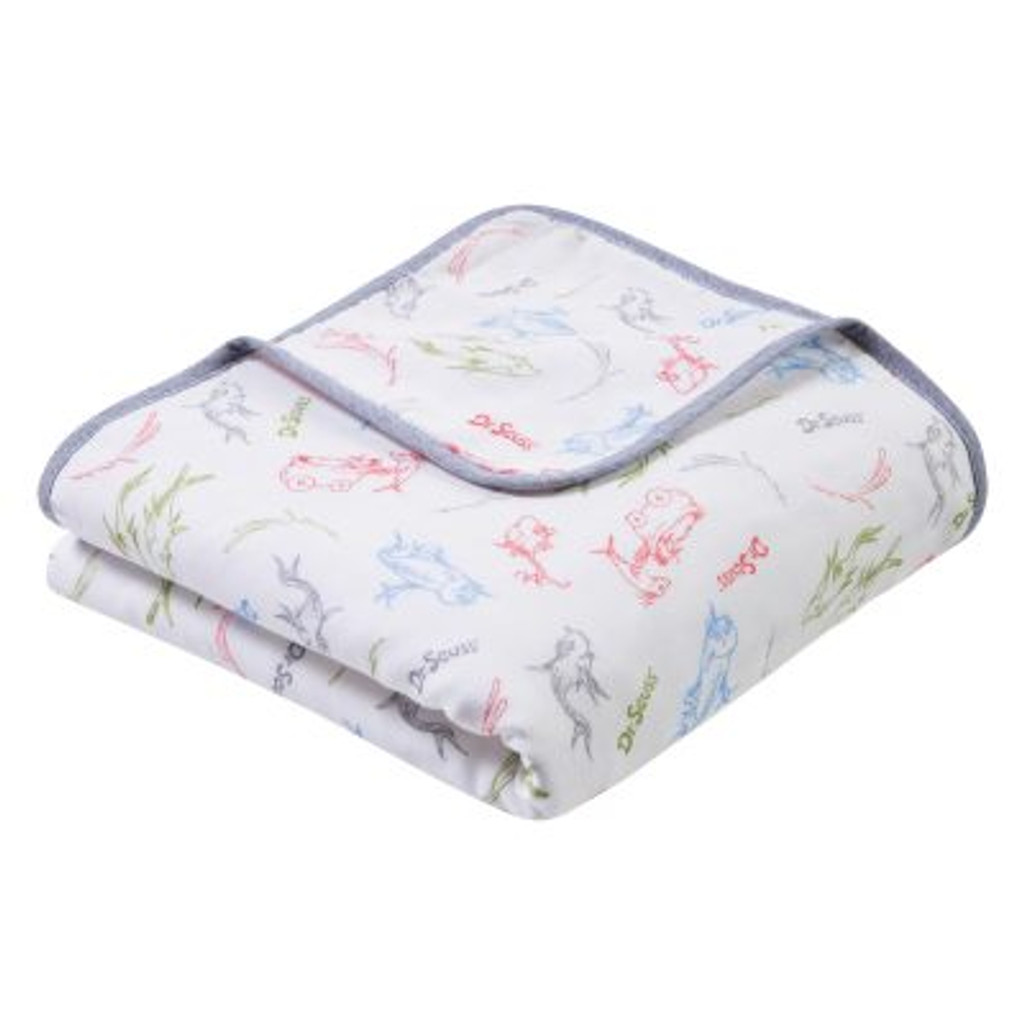 Dr. Seuss™ New Fish Luxe Muslin Blanket