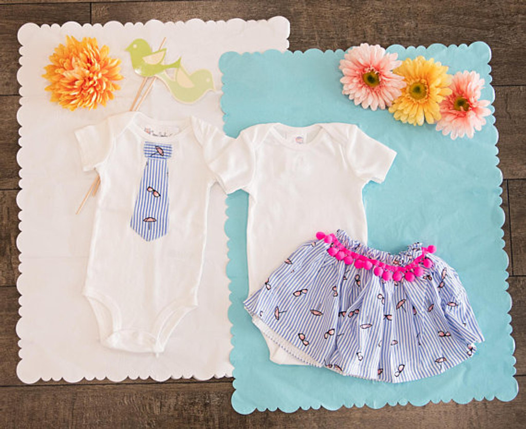 Boy/Girl Twin Springtime Matching Set