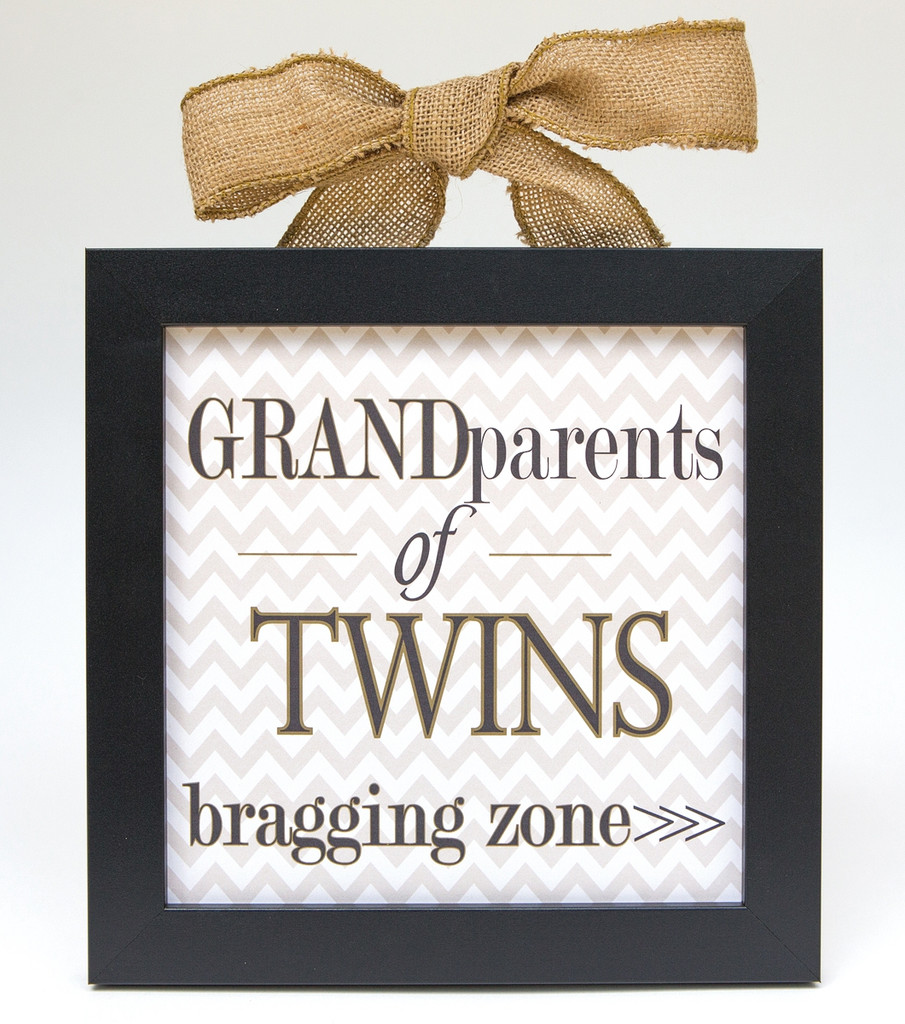 Grandparents of Twins Bragging Sign