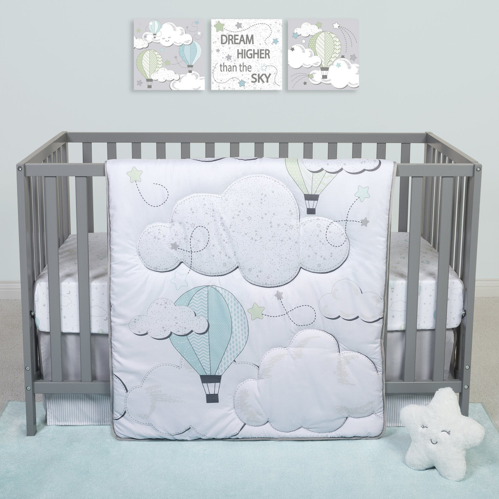 Sammy and Lou Starry Dreams 4 Piece Crib Bedding Set